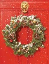 Red Door Wreath Embellished Notecards