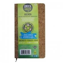Onyx & Green Perpetual Agenda Cork Cover