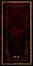 De68167 , Paperblanks weekagenda  2021 slimline 9x17 black moroccan