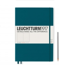 , Leuchtturm notitieboek master slim a4 blanco pacific