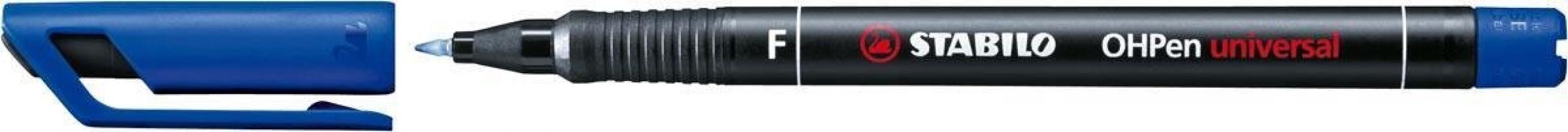, Viltstift STABILO OHpen permanent 842/41 rond 0.7mm blauw