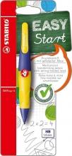 , Vulpotlood STABILO Easyergo 1.4mm rechtshandig paars/neon geel blister