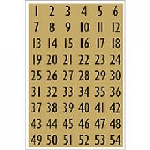 , Etiket Herma 4146 13x12mm getallen 0-9 zwart op goud