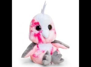 , Animotsu papagaai rose -  knuffel - 15 cm