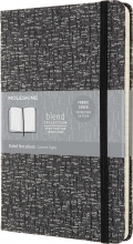 , Moleskine LE Notitieboek Blend AW19 Large (13x21 cm) Gelinieerd Grey