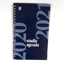 520stu112.bl , Studieagenda 2020-2021 spiraal a5 blauw