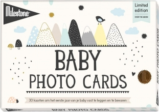 , Baby photo cards over the moon