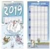 ,<b>Familiekalender 2019 ritsier 210x450 mm</b>