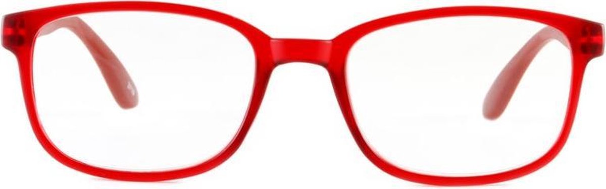 ,Leesbril +2.00 regenboog donkerrood