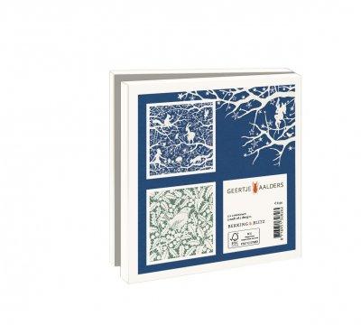Wmc1009,Kerstkaart mapje 10 stuks met env geertje aalders knipkunst