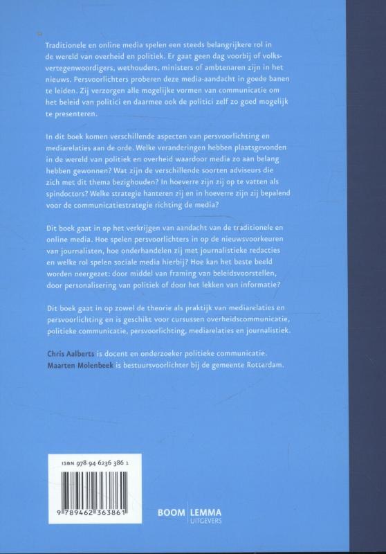 Chris Aalberts, Maarten Molenbeek,Mediarelaties en persvoorlichting