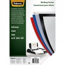 , Voorblad Fellowes A4 PP 500micron transparant lijnen 50stuks