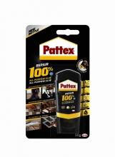 , Lijm Pattex 100% tube 50gram op blister