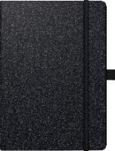 Buchkalender Kompagnon 2018 schwarz. 2 Seiten = 1 Woche, 148 x 210 mm