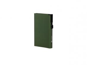 , Pasjeshouder Clicksafe aluminium groen RFID 8 pasjes