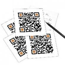5er Set QR Code-Postkarte - mit Smartphone einscannen und Grubotschaft erhalten: MERRY CHRISTMAS.