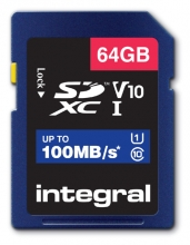 , Geheugenkaart Integral SDXC V10 64GB