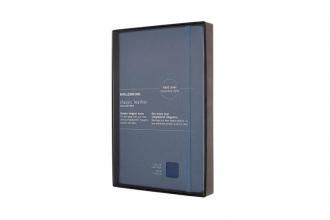 , Moleskine LE Notitieboek Leer Large (13x21cm) Gelinieerd Harde Kaft Blauw