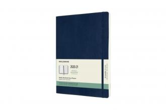 , Moleskine 18 MND Agenda - 2020/21 - Wekelijks - XL (13x25 cm) - Sapphire Blue - Zachte Kaft