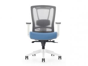 , Bureaustoel luxe Kangaro netstof. Multi verstelbaar         grijs/blauw