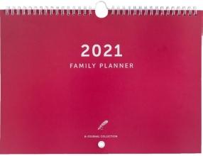 , A-Journal Familieplanner 2021 - Koraal rood