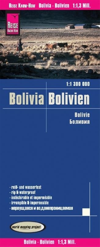 ,Reise Know-How Landkarte Bolivien 1 : 1.300.000