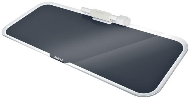 ,Glas Desktop Pad Leitz Cosy grijs