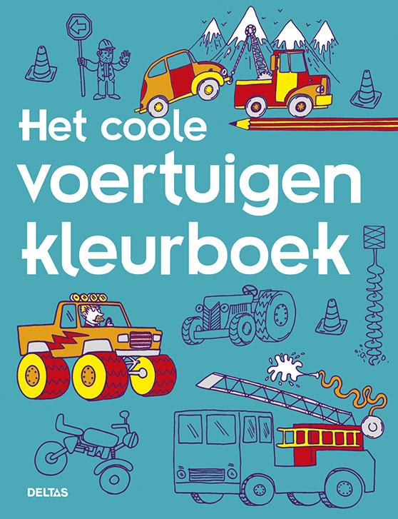 ,Het coole voertuigen kleurboek