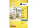 ,adresetiket Avery 210x297mm transparant 25 vel 1 etiket per vel