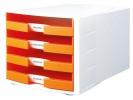 ,ladenkast HAN Impuls wit/     oranje incl. 4 etiketten 294x368x235mm                      open laden