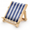 ,Deckchair Bookchair Stripy blue