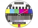 ,Wandklok NeXtime dia. 35 cm, bol glas, multi-color,         `Testpage Dome`