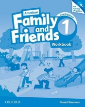 Simmons, Naomi,   Thompson, Tamzin,   Quintana, Jenny American Family and Friends 1. Workbook with Online Practice