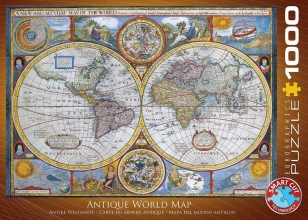 Eur-6000-1271 , Puzzel anbtique world map eurographics 1000 stuks