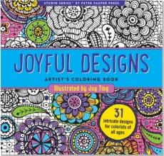 Joyful Designs Artist`s Adult Coloring Book