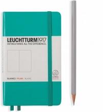 Lt344789 , Leuchtturm pocket notitieboek 90x150 blanco emerald groen