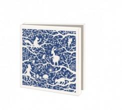 Wmc1009 , Kerstkaart mapje 10 stuks met env geertje aalders knipkunst