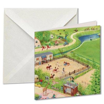 Wmc608,Notecards met env 10 st 15x15 cm  molen, charlotte dematons