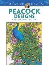 Marty Noble Creative Haven Peacock Designs Coloring Book