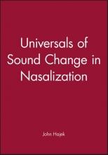 John Hajek Universals of Sound Change in Nasalization