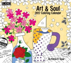 Cal 2017 Art & Soul 2017 Wall Calendar (Coloring)