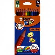 , Kleurpotloden Bic Kids evolution Ecolutions etui à 12 stuks