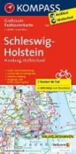 Schleswig-Holstein, Hamburg, Ostfriesland. Großraum-Radtourenkarte 1:125 000