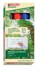 , Viltstift edding 28 whiteboard Eco rond assorti 1.5-3mm 4st