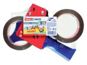 , Verpakkingstape Tesa 50mmx66m ultra sterk 2rol met dispenser