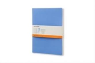 Moleskine Moleskine Volant Notizheft XL, 2er Set Liniert, Soft Cover, Puderblau, K�nigsblau