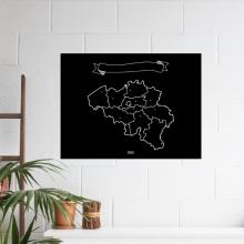 , België Krijtkaart 90 x 60cm