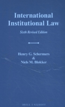 Henry G.  Schermers, Niels M.  Blokker International Institutional Law