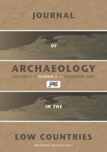, Journal of Archaeology in the Low Countries 2009 - 2