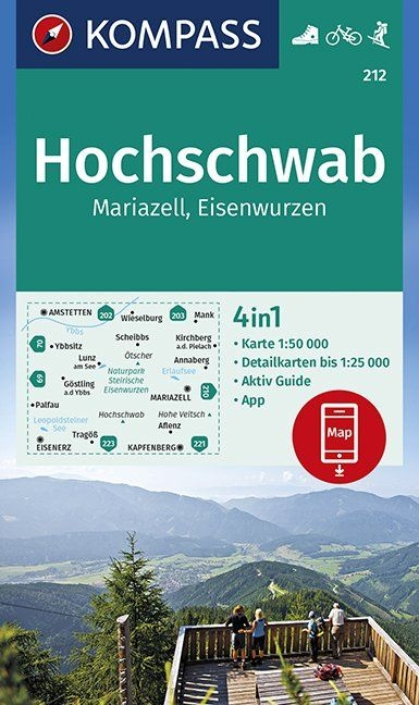 ,Hochschwab, Mariazell, Eisenwurzen 1:50 000